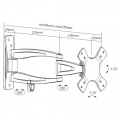 Lehký hliníkový držák pro monitory a malé TV Brateck LDA03-113