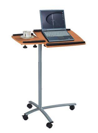Pojízdný stolek pro notebook a projektor v barvě bukového dřeva Sixbros B-001N/59
