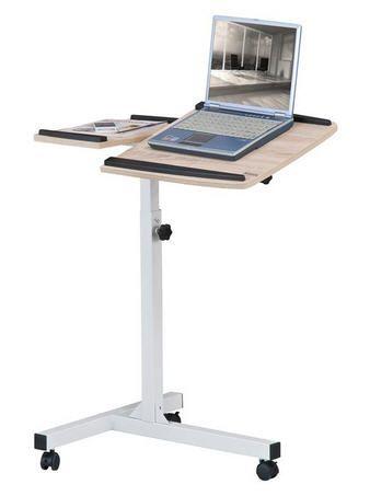 Pojízdný stolek pro notebook a projektor v barvě dubového dřeva Sixbros dub LT-001A/1836