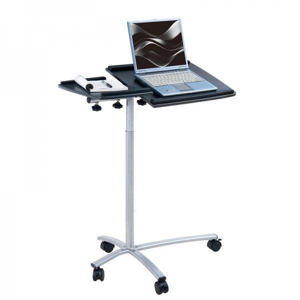 Pojízdný stolek pro notebook a projektor v tmavé barvě