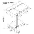 Pojízdný stolek rozměry